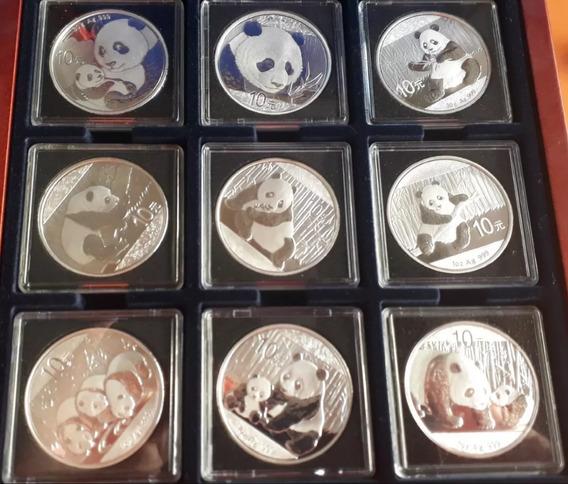 Set 9 Monedas Plata 999 Pandas China
