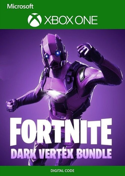 Fortnite Dark Vertex Bundle + 2000 V-bucks Xbox One 25 Dígitos Patch