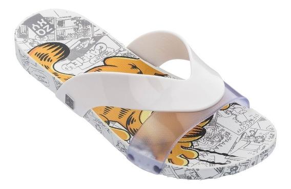 Chinelo Slide Garfield Lovely Branco Nude Envio Em 24hrs
