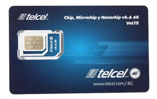 Paquete 100 Chips Telcel 4g Lte V 6.4 Region 7