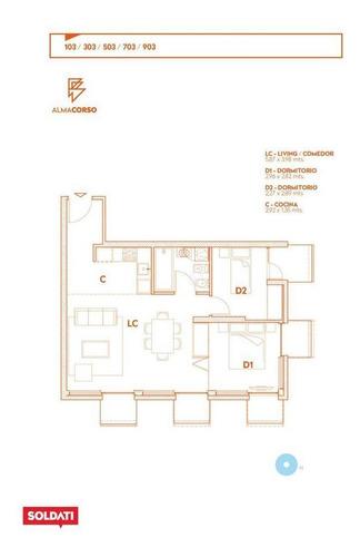 Alma Corso.venta.departamento.3 Ambientes.montevideo