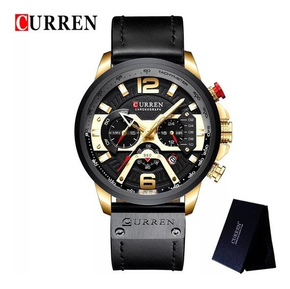 Relógio Masculino Luxo Curren 8329 Original Envio Imediato