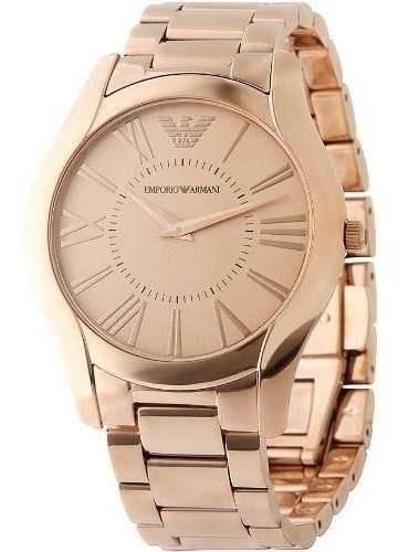 Relógio Empório Armani Ar2061 Masculino Rose Gold Original