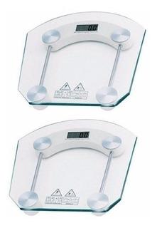 Kit 2 Balança Banheiro Vidro Temperado Para Se Pesar Em Casa