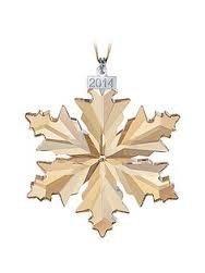 Swarovski Navidad Copo De Nieve Ámbar Ornamento 2014