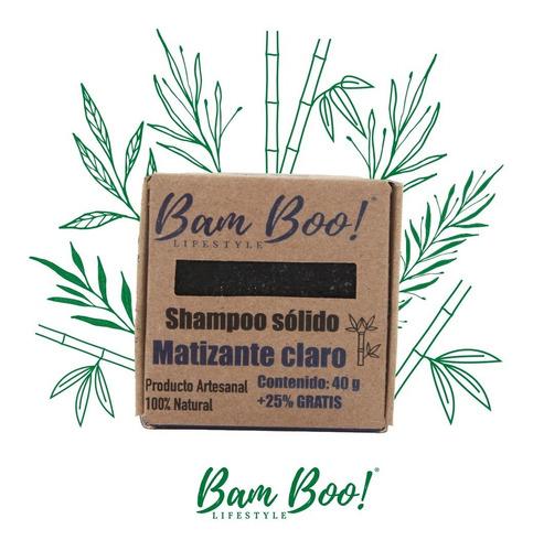 Shampoo Solido Matizante Claro Bam Boo! Lifestyle® 50 Gr