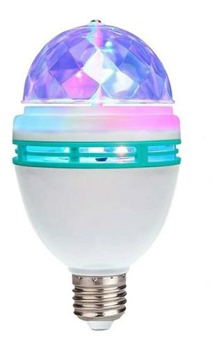 Imagen 1 de 10 de Lampara Giratoria Luces Led Dj 3 Colores Rgb Efectos Fiestas