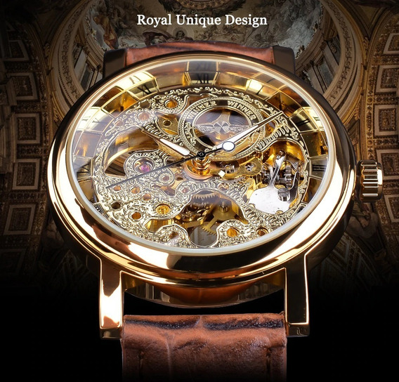 Vencedor Caso De Ouro Transparente Luxo Design Casual