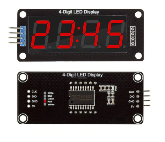 Módulo Display Digital De 4 Digitos 7 Segmentos - Arduino