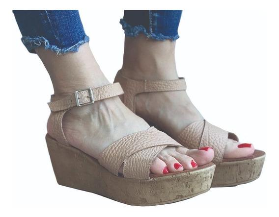 Zapatos Mujer Sandalias Plataforma Taco Chino Cuero Envio