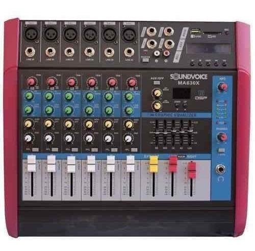 Mesa Amplificada 500w 4 Ohms Ma630x 6ch Mono Soundvoice