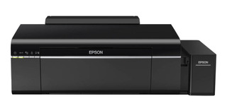 Impresora a color fotográfica Epson EcoTank L805 con wifi 110V/220V negra