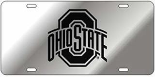 Craftique Ohio State Espejo Del Corte Del Laser De La Matríc