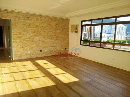 Apartamento Com 3 Dormitórios À Venda, 113 M² Por R$ 540.000,00 - Marapé - Santos/sp - Ap0864