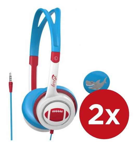 Pack 2x Audifono On Ear Para Niños Little Rockers Ifrogz