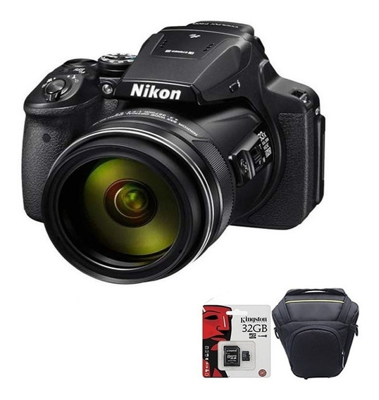 Camara Nikon P900 Coolpix 16mp Zoom + Bolso + Memoria 32gb