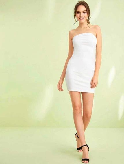 Vestido Corto Dama Strapless Moda Cómoda Y Sexy