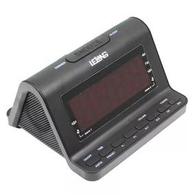 Rádio Relógio Am / Fm Despertador Com Alarme Lelong Le-626