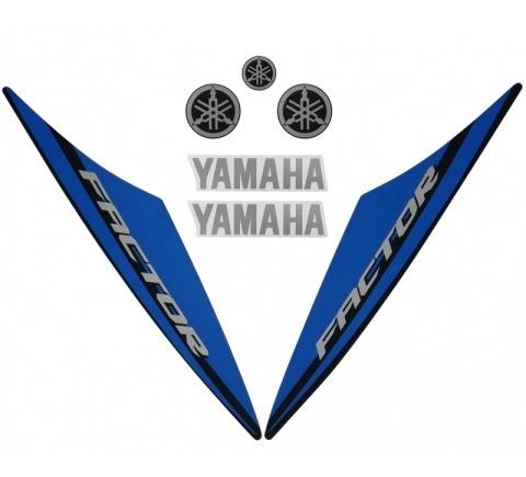 Kit De Adesivos Ybr 125 Factor 15/16 - Moto Cor Preta - 209