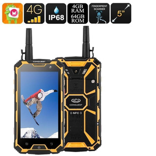 Conquest S8 64gb Rugged Ip68 Antena Para Alta Recepcion Gold