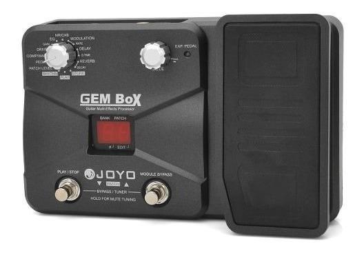 Pedaleira Guitarra Joyo Gem Box | Multi Efeitos + Wah