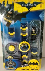 Relógio Batman Infantil + Mini Boneco C/ Pulseira