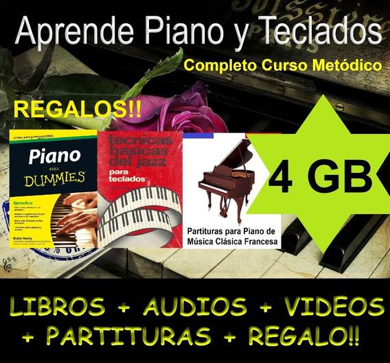 Completo Curso De Piano Y Teclados Libro+audio+videos+partit