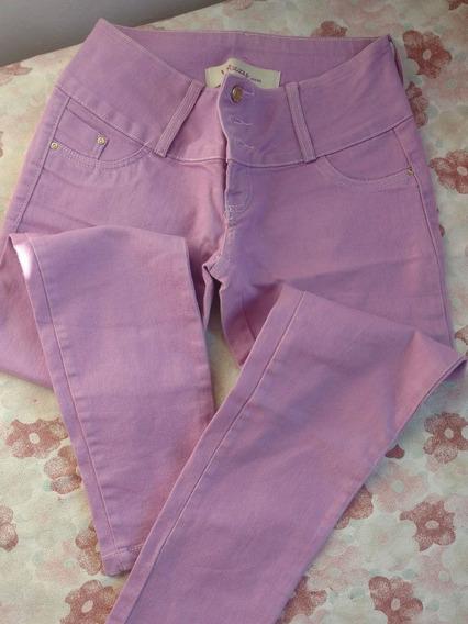 Calça Jeans Lilás