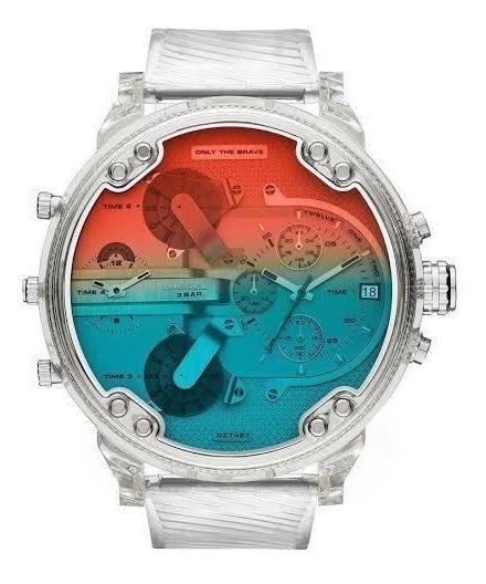 Relógio Masculino Diesel Modelo Dz7427 Pulseira Em Silicone
