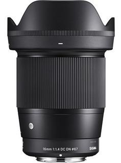 Lente Sigma 16mm F1.4 Dc Dn Para Sony E 4 Años Garantía