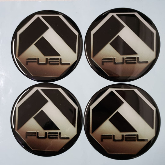 4 Emblema Roda Fuel 51 A 90mm Resinado Offroad Tuff Rhino
