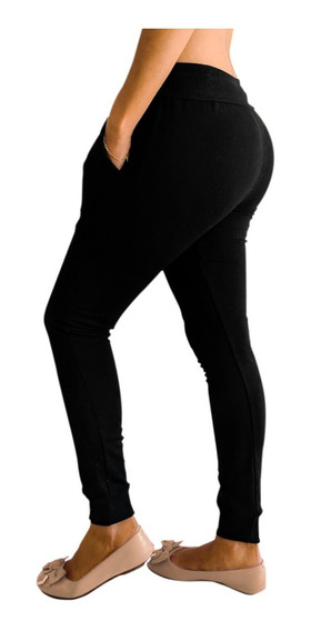 Calça Blogueira Panicat Slim Skinny Moletom Feminina Jogger