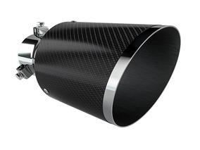 Ponteira Esportiva Aço Inox Fibra Carbono Luzian P001b Bisel