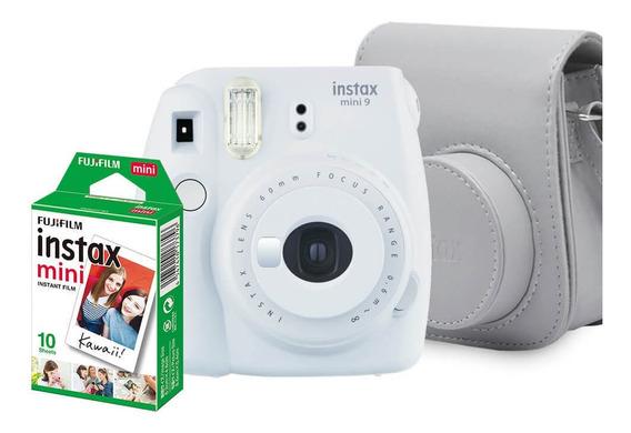 Kit Câmera Instantânea Fujifilm Instax Mini 9 Branco Gelo Co