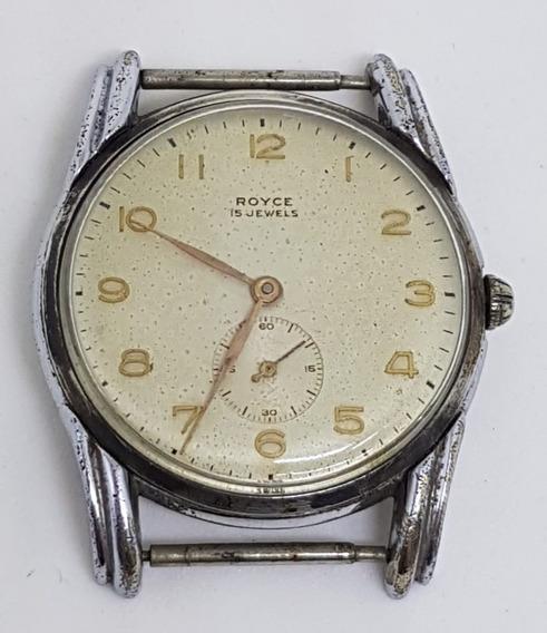 Relógio Pulso Vintage Royce Swiss No Estado P/peça 37 Mm
