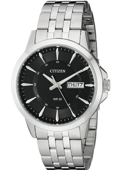 Relógio Citizen Bf2011-51e Masculino Preto Aço Classico