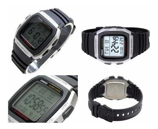 Relógio Casio W-96 H-1a Hora Dual 12/24hs Alarme Wr-50m
