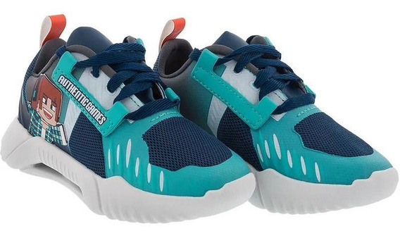 Tenis Menino Authentic Games Minecraft Azul 1-00158