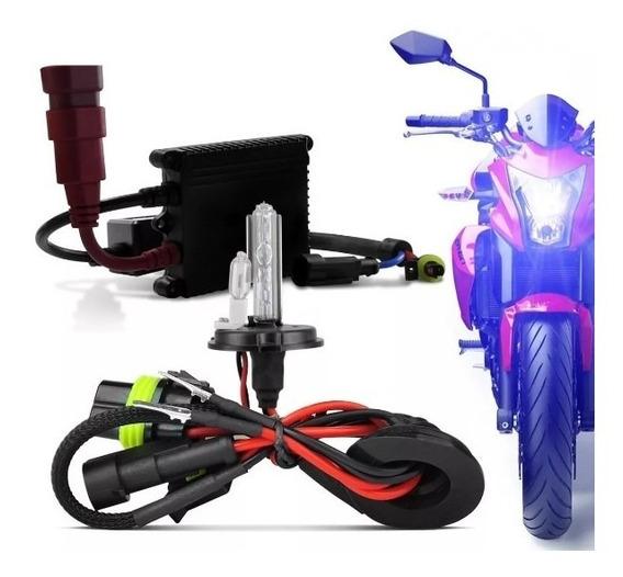 Kit Xenon Moto Honda Cb300 Xre Cg Titan Fan Yamaha Fazer