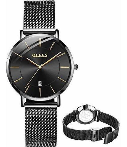 Olevs Lujo Reloj Mujer Ultra Delgado Reloj Mujeres Mujeres O