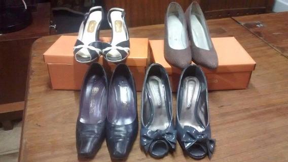 4 Pares De Zapatos 2 Batistela Y 2 Otras Marcas