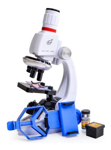 Imagem 1 de 8 de Terno Do Microscópio Das Crianças Com Suporte Do Telefone Mó
