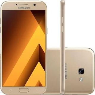 Samsung Galaxy A7 2017 Duos Dourado A720f/ds 64gb Vitrine