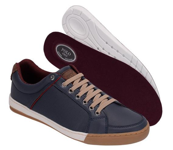 Sapato Masculino Sapatênis Casual/social Couro Ecológico Fj