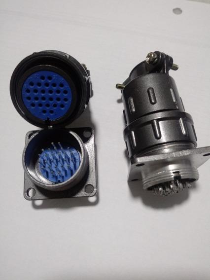 Conector Circular Tipo Mike Tipo Amphenol 26 Pinos
