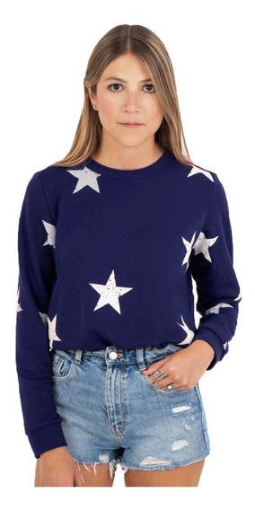Buzo Flashy Estampado Estrellas Mujer