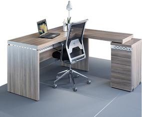 Mesa Diretor Em L C/ Gaveteiro Acoplado - 170x160 - Oferta