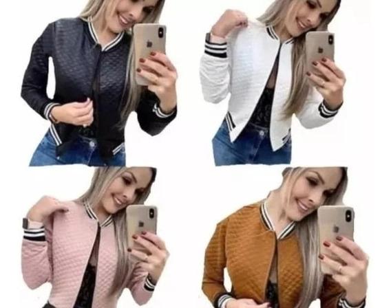 Jaquetinha Casaco Blusa Feminina Metalasse Ziper Tendência