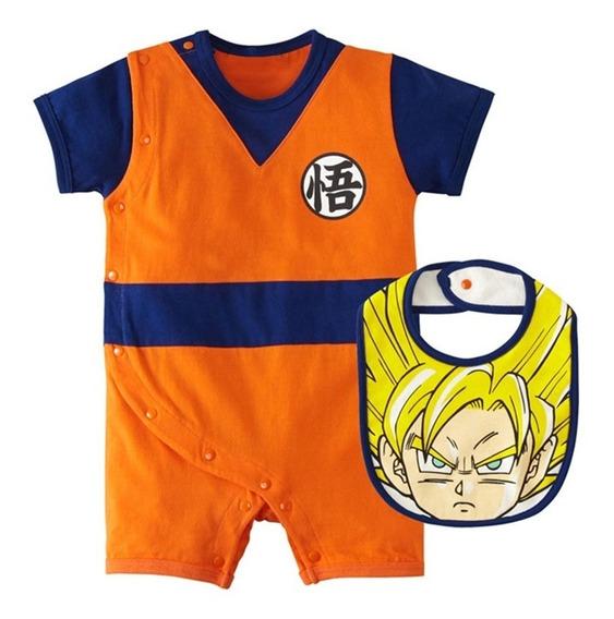 Goku Dragon Ball - Body Infantil Bebê Mesversário Menino
