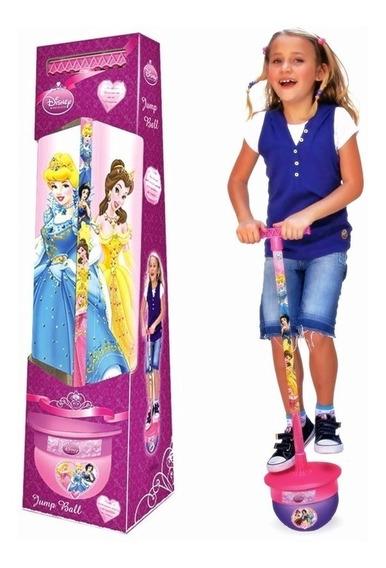 Brinquedo Pula Pula Jump Ball Princesas Rosa Original C/ Som